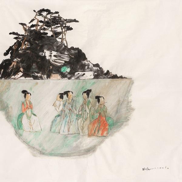 contemporaray ink wash painting Fairyland III