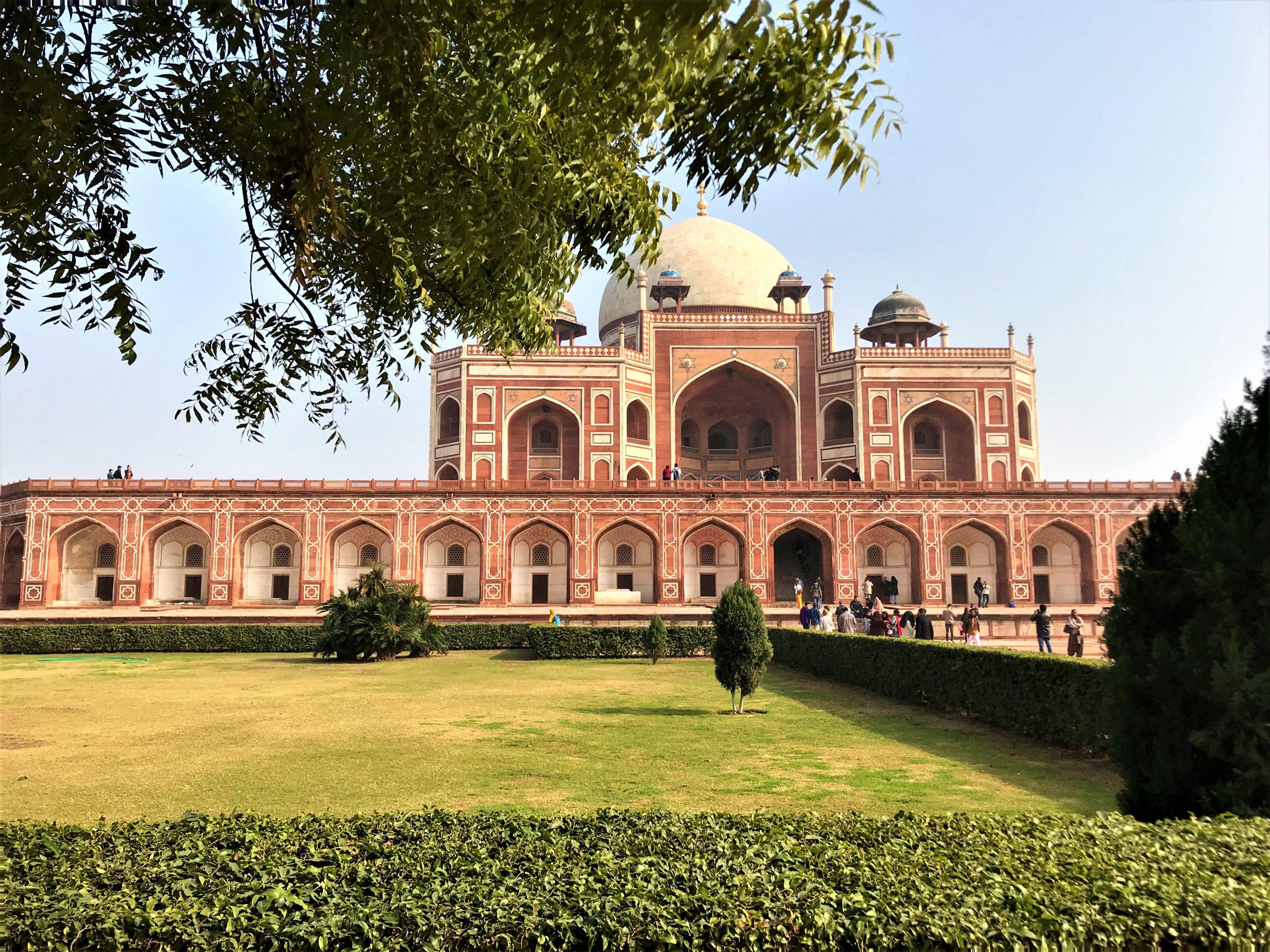 Humayun's Tomb in Delhi, India believed to be the predecessor of the Taj Mahal in Agra