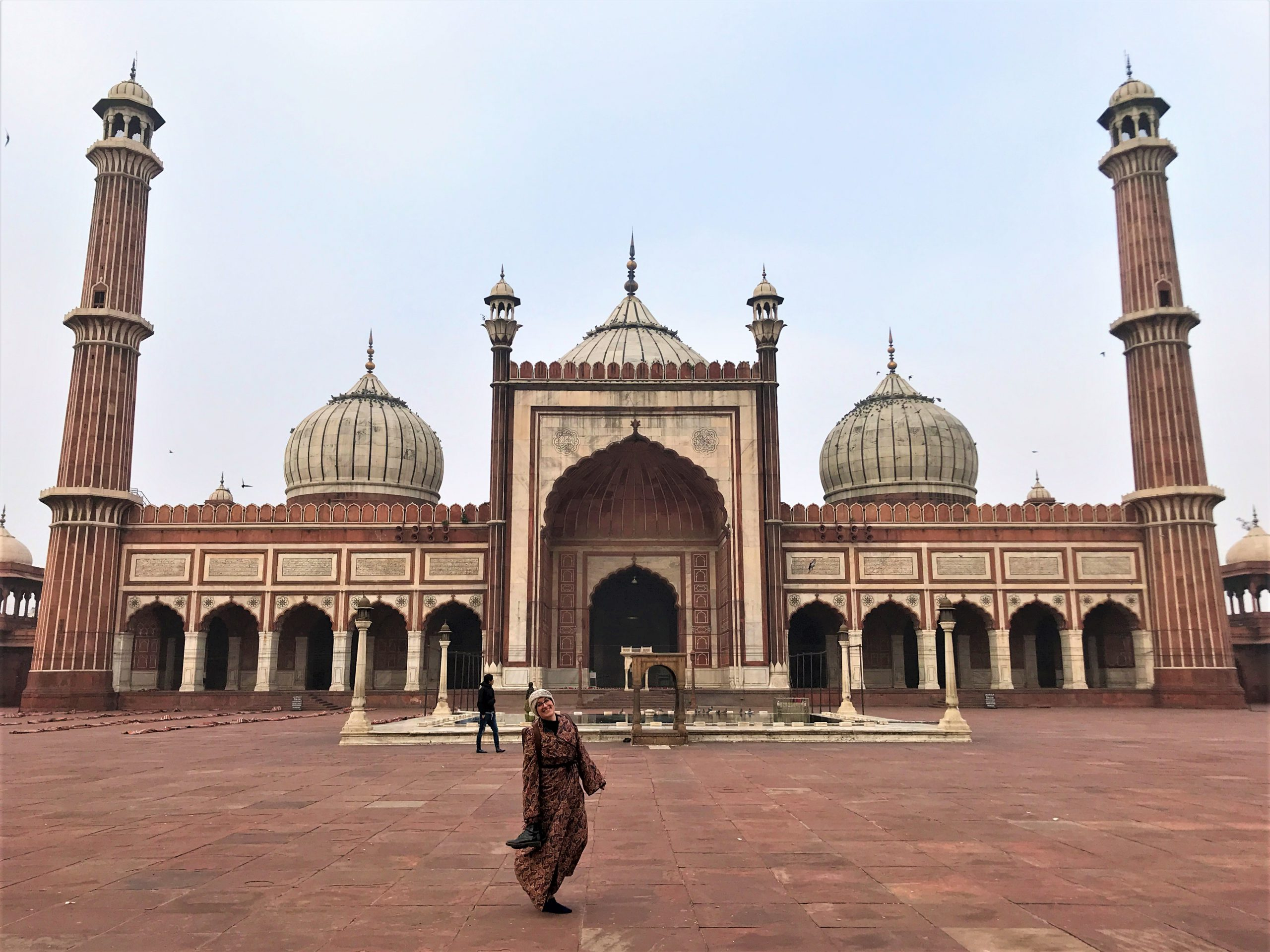 The Jama Masjid Mosque in Delhi India one of the five most important monuments from the Mughal empire