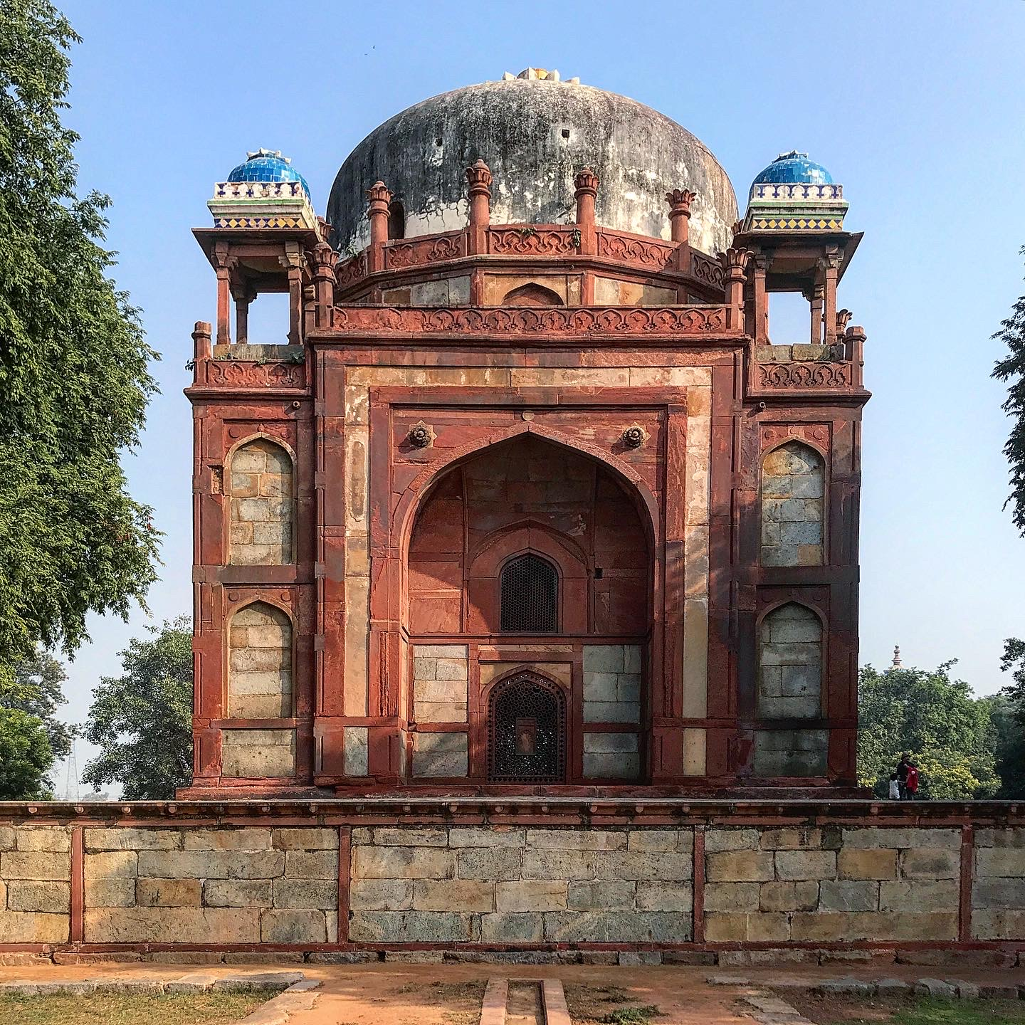 One of the smaller mauseleums at the complex of the Humayun's tomb