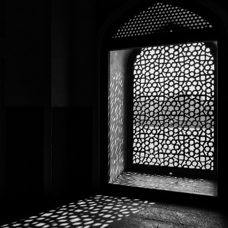 Unique design of the windows at Humayun's tomb