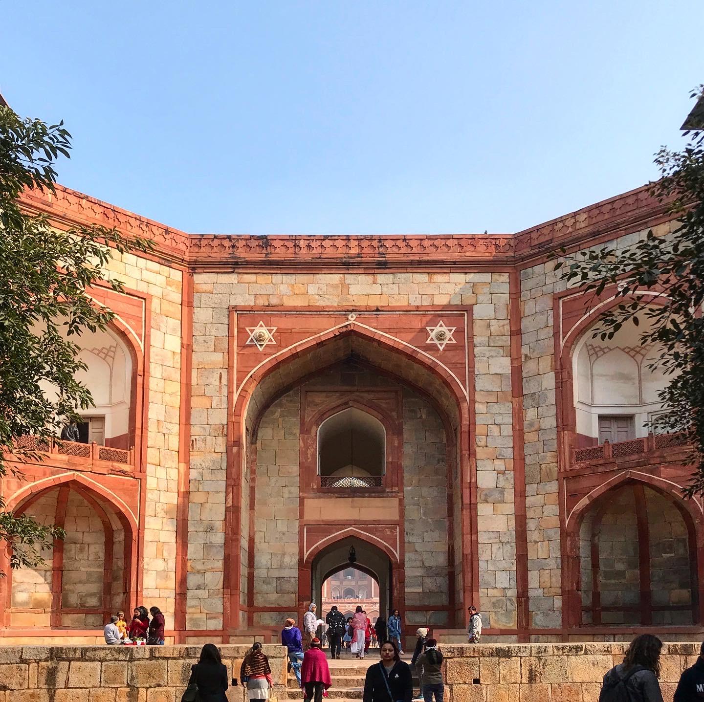 The main gate of the Humayun's tomb in Delhi, India