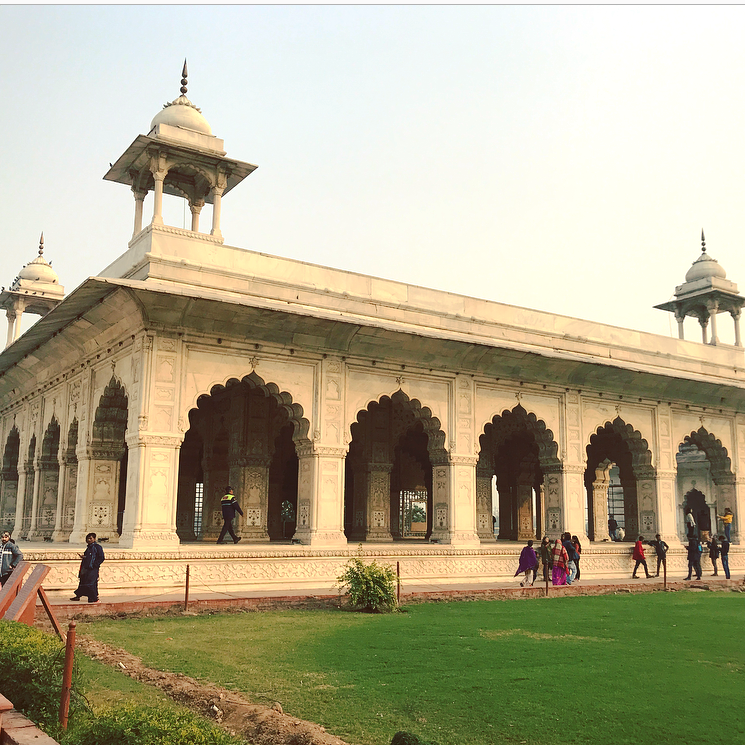 The hall of private audience (Diwan-i-Khas) seen from afar