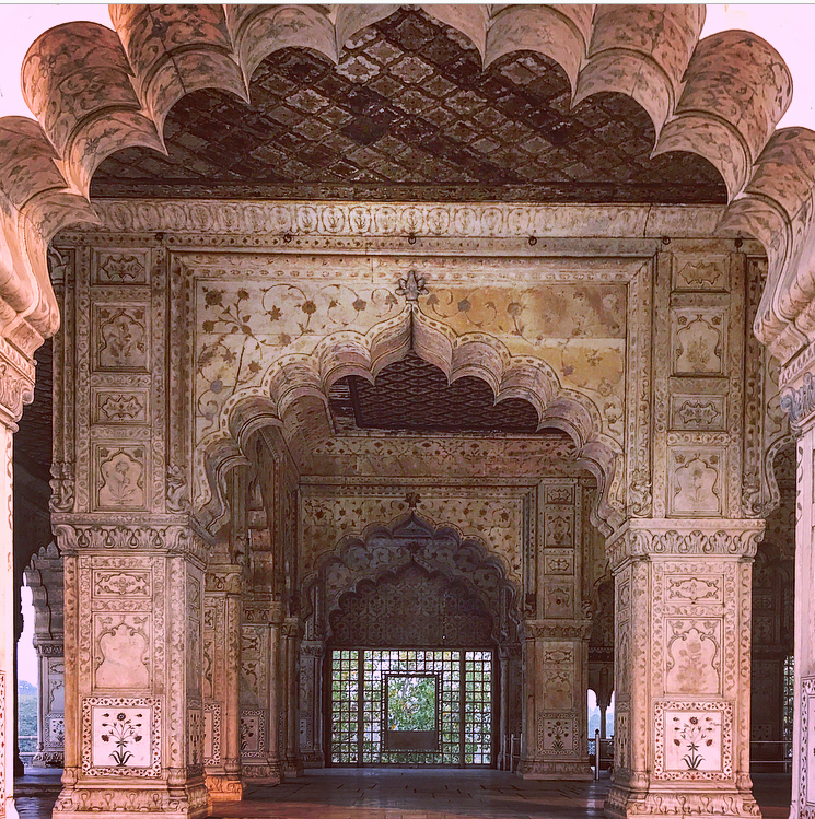 the hall of private audience Diwan-i-Khas at the red fort in delhi