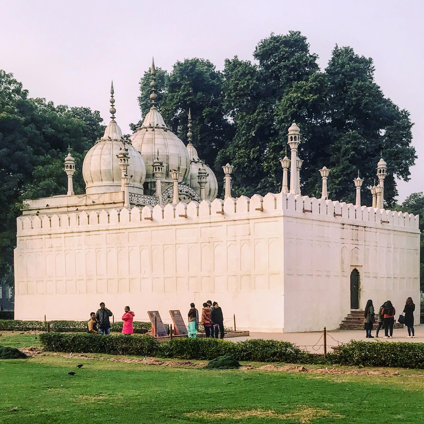 The pearl mosque at the Red Fort