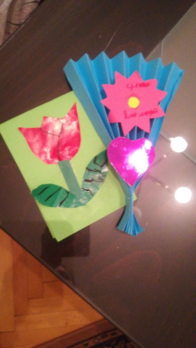 Gift from a child from women's day 8th of March