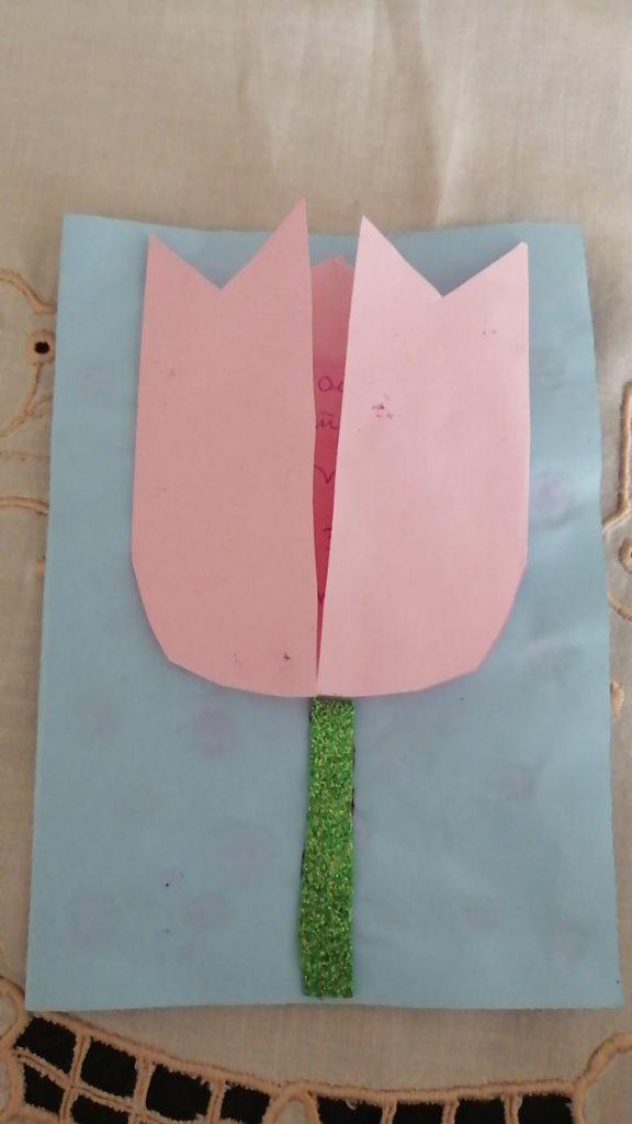 Tulip-shaped card diy