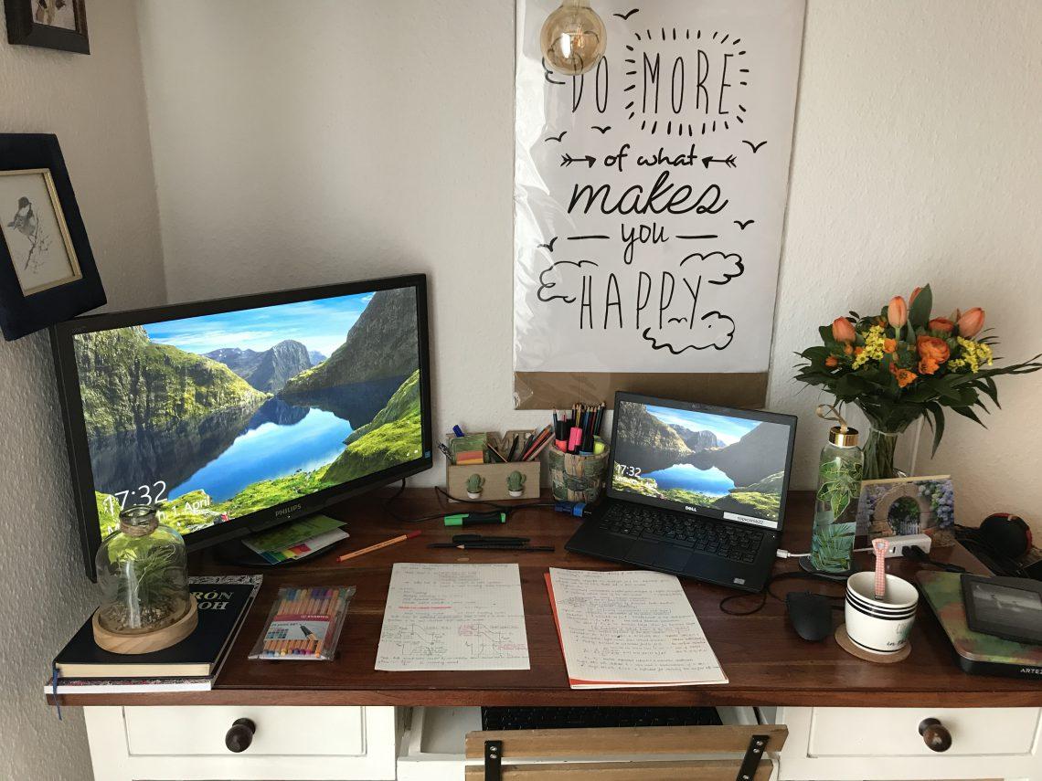 working desk home office finding joy
