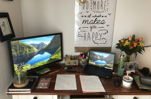 working desk home office finding joy