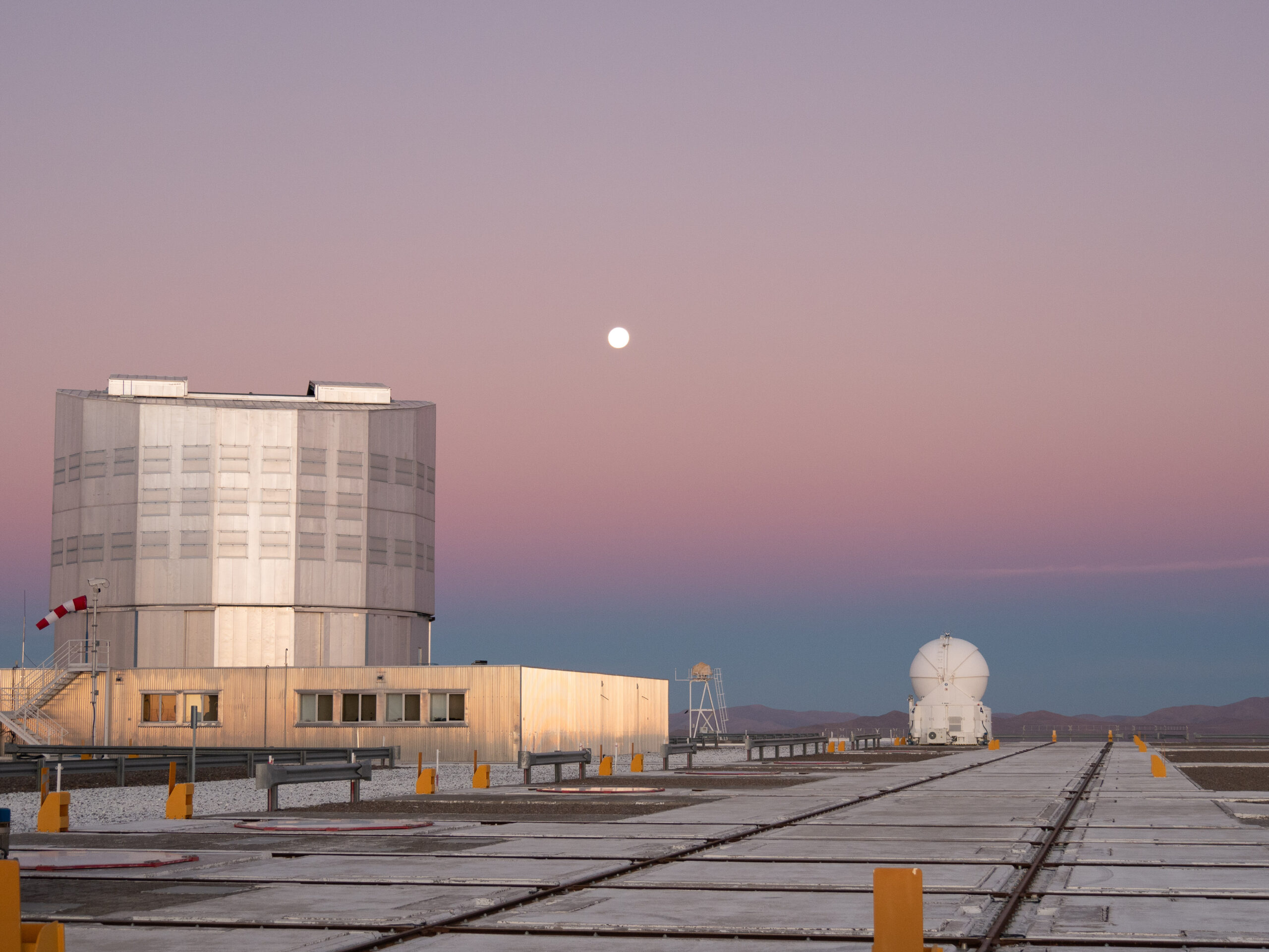 Part of the telescopes at the Paranal observatory in Chile.
